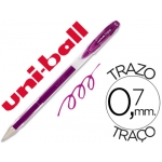 Bolígrafo uni-ball signo color violeta 0,7 mm tinta gel
