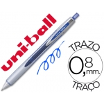 Bolígrafo uni-ball vision rt 0,8 mm color azul tinta liquida