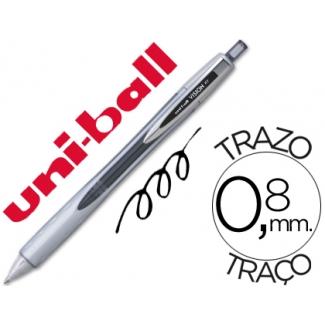 Bolígrafo uni-ball vision rt 0,8 mm color negro tinta liquida