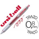 Bolígrafo uni-ball vision rt 0,8 mm color rojo tinta liquida