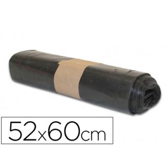 Bolsa basura doméstica biznaga negra 52x60 cm galga 80 rollo de 20 unidades