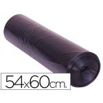Bolsa basura doméstica negra 54x60 galga 100 rollo de 25 unidades