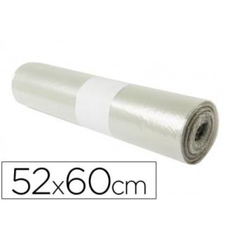 Bolsa basura doméstica translúcida 52x60 cm galga 70 rollo de 20 unidades