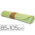 Bolsa basura industrial amarilla 85x105 cm galga 110 rollo de 10 unidades