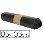 Bolsa basura industrial biznaga negra 85x105 cm galga 120 rollo de 10 unidades