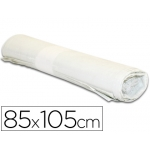 Bolsa basura industrial color Blanca 85x105 cm galga 110 rollo de 10 unidades