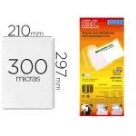 Bolsa de plastificar 3l office manual en frio 300 micras tamaño A4 con dorso adhesivo pack 10 unidades