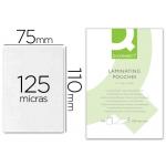 Bolsa de plastificar Q-Connect 110 x 75 mm 125 micras carnet de identidad caja de 100
