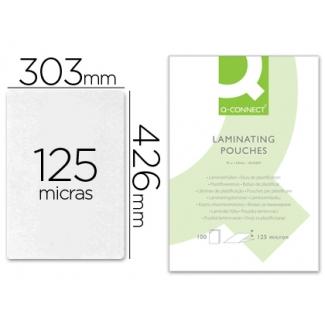 Bolsa de plastificar Q-connect 303 x 426 mm 125 micras tamaño A3 caja de 100