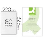 Bolsa de plastificar Q-Connect 325 x 220 mm 80 micras tamaño folio