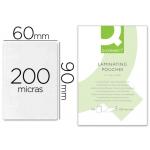 Bolsa de plastificar Q-Connect 90 x 60 mm 200 micras carnet de nif caja de 100
