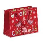 Bolsa de regalo con motivos navideño 17x22,5 cm
