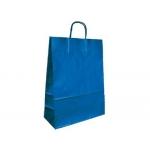 Bolsa papel kraft Q-connect color azul asa retorcida 270x120x360 mm