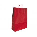 Bolsa papel kraft Q-connect color rojo asa retorcida 270x120x360 mm