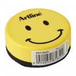 Borrador Artline pizarra blanca redondo magnético cara smiley colores surtidos