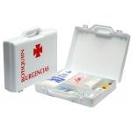 Botiquín polipropileno con material para primeros auxilios forma de maletin 270x230x70 mm