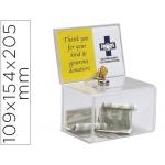 Buzon de sugerencia archivo con cerradura y dos llaves color cristal transparente 109x154x205 mm