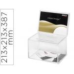 Buzon de sugerencias archivo color cristal transparente 213x213x387 mm