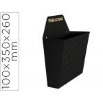 Buzon metálico para publicidad pintado en epoxi 100 ancho 26 cm alto 35 cm fondo sup 13 cm color negro