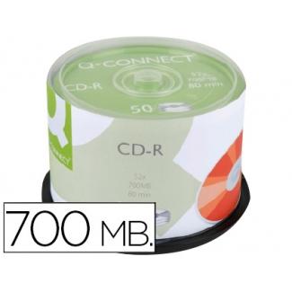 Q-Connect KF18020 - CD-R imprimible, tarrina de 50 unidades