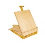 Caballete pintor lidercolor madera tamaño minimo del lienzo 68 cm paleta de madera incluida