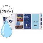 Cabezal HP 81 cian claro con limpiador referencia C4954A - Designet 5000 y 5500