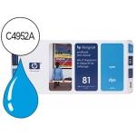 Cabezal HP 81 cian con limpiador referencia C4951A DesignJet series 5000, 5500