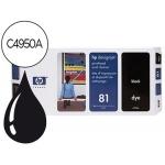 Cabezal HP 81 negro con limpiador referencia C4950A DesignJet series 5000, 5500
