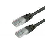 Cable de red Mediarange longitud 2 mt color negro conector rj45