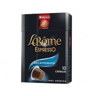 Cafe Marcilla l arome espresso decaffeinato fuerza 6 monodosis caja de 10 unidadecompatible con nesspreso