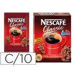 Cafe Nescafe descafeinado monodosis caja de 10 sobres