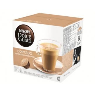 Cafe dolce gusto descafeinado cortado monodosis caja de 16 unidades
