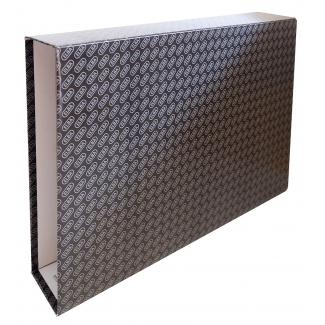 Elba 7531900 - Caja para archivador, tamaño A3 apaisado, lomo ancho, color negro