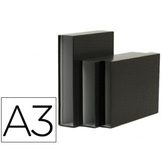 Caja archivador Elba de cartón tamaño A3 apaisados