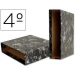Liderpapel CZ08 - Caja para archivador, tamaño cuarto, lomo ancho, color negro jaspeado