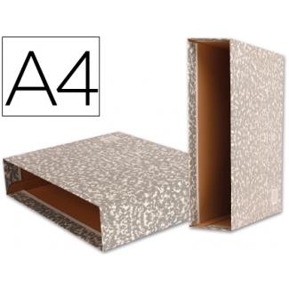 Liderpapel CZ03 - Caja para archivador, tamaño A4, lomo ancho, color gris jaspeado