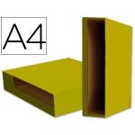 Caja archivador Liderpapel color system tamaño A4 lomo 75 mm color amarillo
