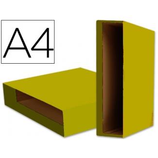 Liderpapel CZ09 - Caja para archivador, tamaño A4, lomo ancho, color amarillo