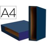 Caja archivador Liderpapel color system tamaño A4 lomo 75 mm color azul