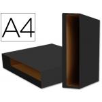 Caja archivador Liderpapel color system tamaño A4 lomo 75 mm color negro