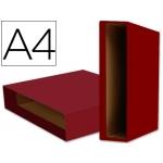 Caja archivador Liderpapel color system tamaño A4 lomo 75 mm color rojo