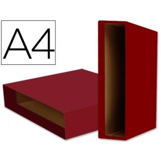 Liderpapel CZ12 - Caja para archivador, tamaño A4, lomo ancho, color rojo