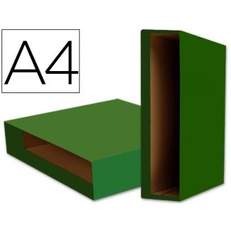 Liderpapel CZ13 - Caja para archivador, tamaño A4, lomo ancho, color verde