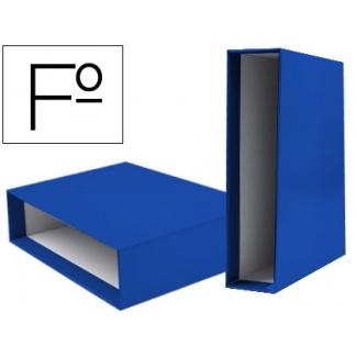 Caja archivador Liderpapel de palanca cartón tamaño folio documenta lomo 75 mm color azul