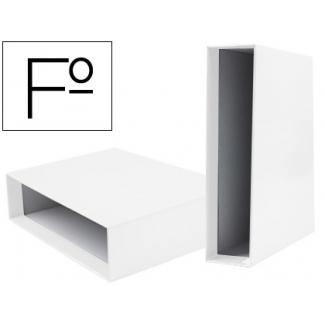 Liderpapel CZ21 - Caja para archivador, tamaño folio, lomo ancho, color blanco