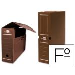 Caja archivo definitivo plástico Liderpapel color marron tamaño folio