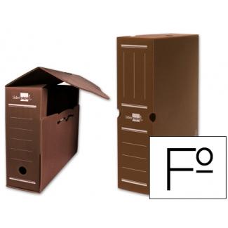 Liderpapel DF08 - Caja archivo definitivo de plástico, tamaño folio, color marrón