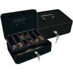 Caja caudales Q-Connect 250x180x90 mm negra con portamonedas