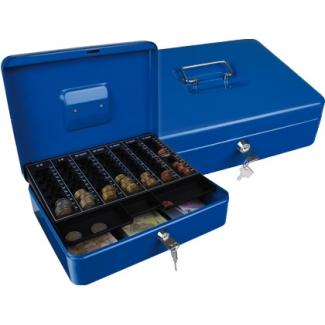 Q-Connect KF03327 - Caja de caudales, 300 x 90 x 240 mm, color azul