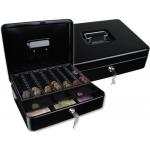 Caja caudales Q-Connect 300x240x90 mm negra con portamonedas